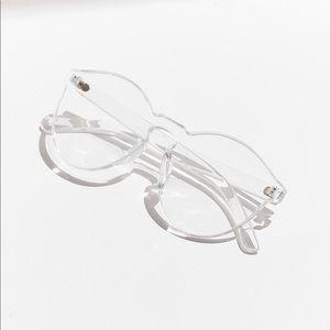 UO | Translucent Monocut Round Sunglasses